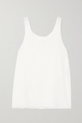 Chloé Embroidered Silk Camisole - White