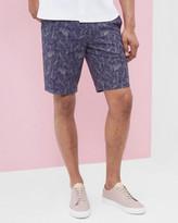 Parrot Print Cotton Shorts