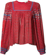 Ulla Johnson patterned pleated blouse - women - Silk - 6