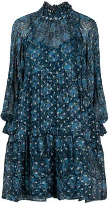 Sea Lurex-Threaded Tiered Dress