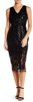 Alexia Admor V-Neck Sleeveless Embellished Sequin Dress