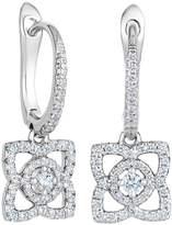 De Beers White Gold Enchanted Lotus Sleeper Earrings