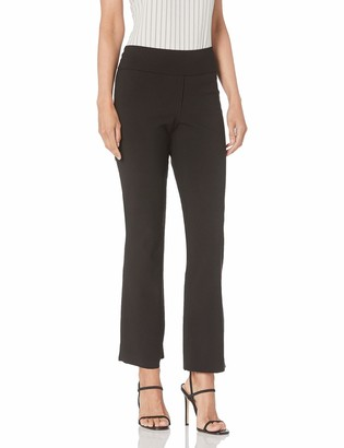 Anne Klein Women's Crepe Double Knit Cropped Flare Pant