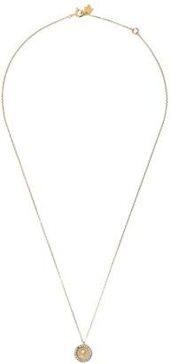 Feidt Paris 9kt yellow gold Madonna sapphire pendant necklace