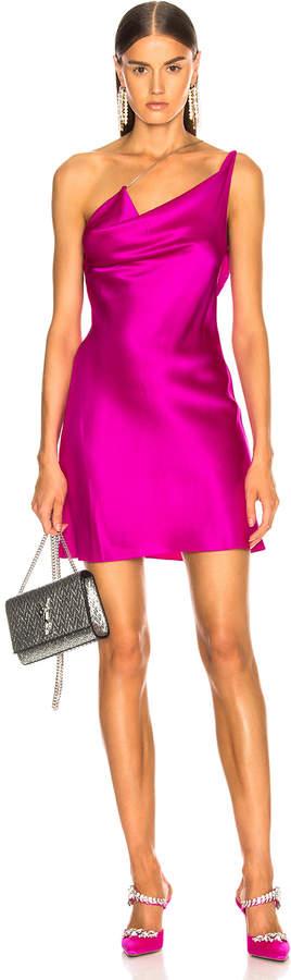 Cushnie et Ochs Asymmetrical Strap Mini Dress