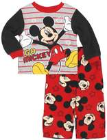 "Disney Mickey Mouse Little Boys' Toddler ""Go, Mickey!"" 2-Piece Pajamas - , 4t"