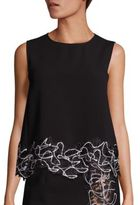 Versace Placed Floral Lace Top