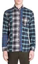 Lanvin Plaid Regular-Fit Cotton Casual Button Down Shirt