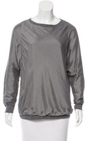 Brunello Cucinelli Silk-Accented Wool Top