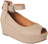 Gentle Souls By Kenneth Cole Nyssa Leather Peep Toe Wedge Sandal