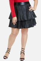 Fashion to Figure Mica Tiered Faux Leather Skirt