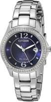 Citizen Women's Silhouette Crystal FE1140-86L Wrist Watches, Blue Dial