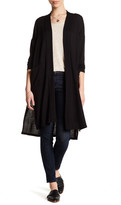 Bobeau Two Pocket Long Sleeve Cardigan (Petite)