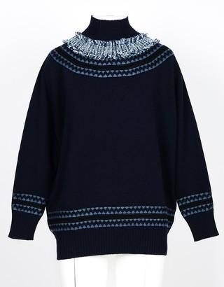 Lamberto Losani Blue 100% Cashmere Women's Sweater
