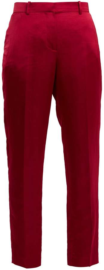 Givenchy Straight-leg satin cropped trousers