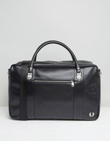 Fred Perry Holdall In Pique Black