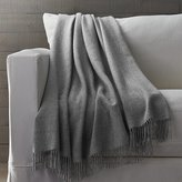 Crate & Barrel Lima Alpaca Grey Throw