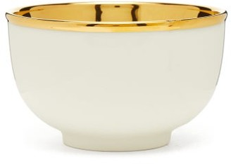 AERIN Elia Metallic And Ceramic Bowl - Cream