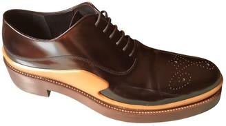Prada Brown Patent leather Lace ups