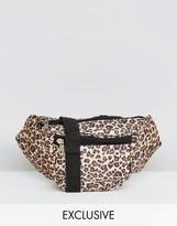 Reclaimed Vintage Inspired Bum Bag In Leopard Print