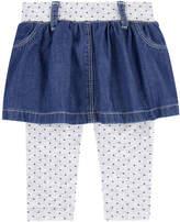Levi's Jean skirt with leggings