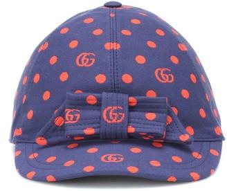 Gucci Kids Polka-dot cotton-blend cap