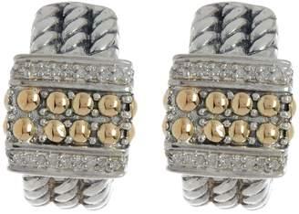 Effy 18K Gold & Sterling Silver Hoop Earrings