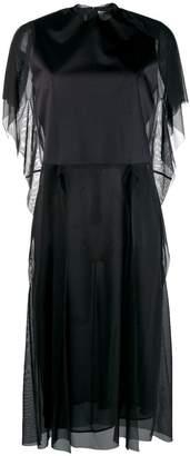 Maison Margiela tulle panneled T-shirt dress
