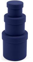 Design Ideas Navy Squish Round Container - Set of 3