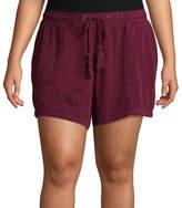 Boutique + + Twill Soft Shorts - Plus