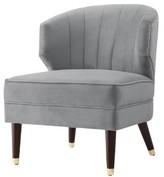Nicole Miller Alfonso Velvet Wingback Chair Upholstery Color: Gray