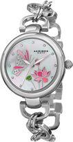 Akribos XXIV Womens Silver Tone Bracelet Watch-A-934ss
