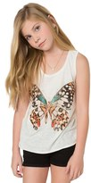 O'Neill Girl's Butterfly Kisses Graphic Tank