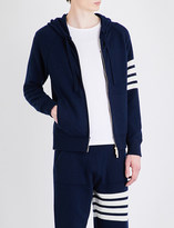 Thom Browne Stripe-detailed cashmere hoody