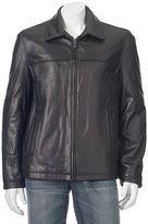 Dockers Men's Leather Shell Open-Bottom Jacket