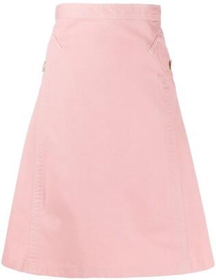 Gianfranco Ferré Pre-Owned 1990s bias A-line skirt