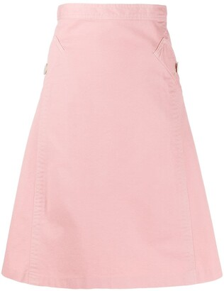 Gianfranco Ferré Pre Owned 1990s bias A-line skirt