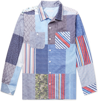 Engineered Garments Camp-Collar Patchwork Cotton Shirt - Men
