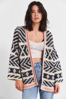 Urban Outfitters Festival Contrast Trim Cardigan