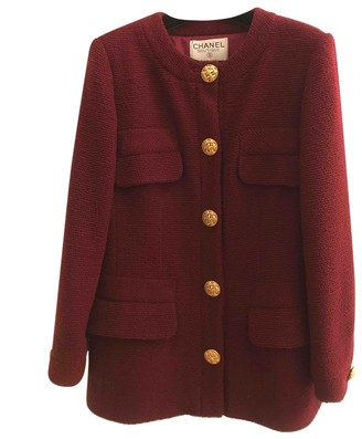 Chanel Burgundy Wool Jackets