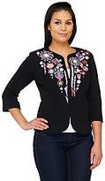 Bob Mackie Bob Mackie's Embellished Zip-Front Jubilation Jacket