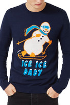 Topman Skiing Snowman Sweater