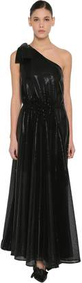 MSGM Pm Long Sequined Techno Dress