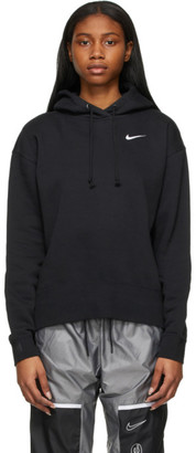 Nike Black Sportswear Essential Cropped Hoodie