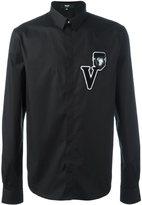Versus logo patch shirt