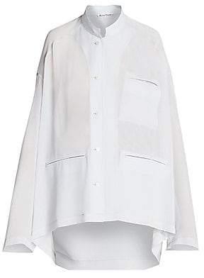 Acne Studios Women's Shana Georgette Pocket Shirt