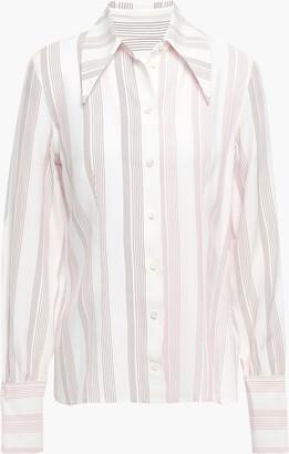 Victoria Beckham Striped Silk-cady Shirt