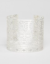 Pilgrim Cut Out Detail Chunky Cuff Bracelet