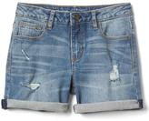 Gap Stretch destructed girlfriend shorts