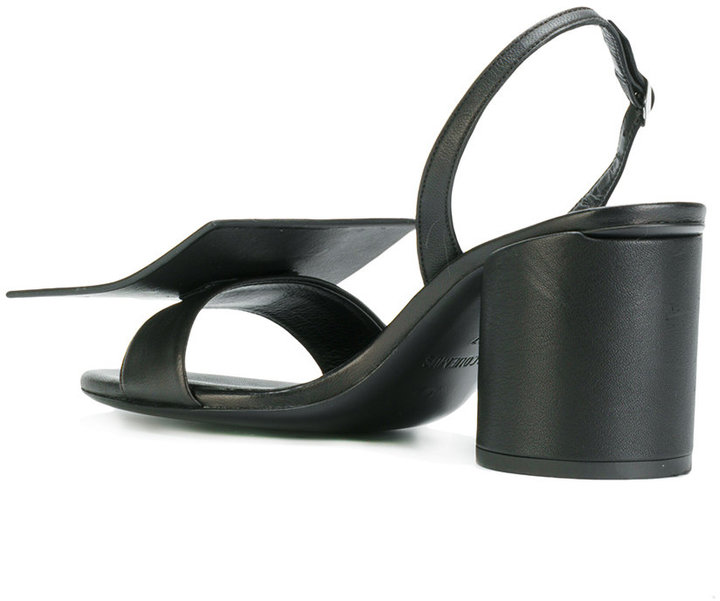 Jacquemus geometric strap sandals
